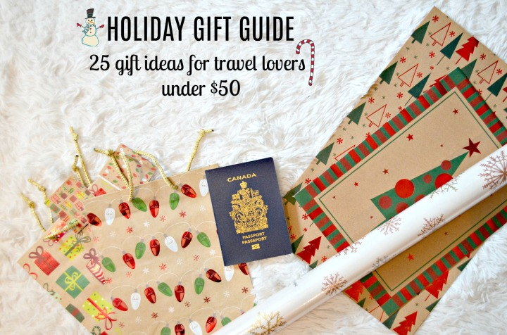 25 GIFT IDEAS FOR TRAVEL LOVERS ALL UNDER $50
