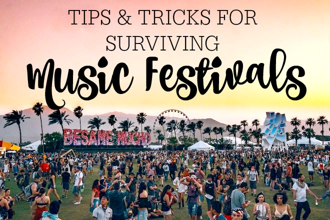 TIPS & TRICKS | HOW TO SURVIVE A MUSICFESTIVAL